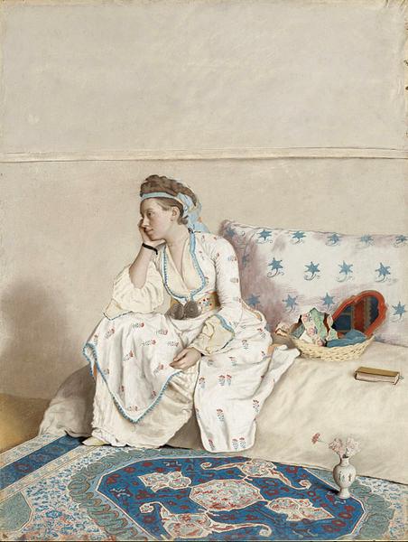 Étienne_Liotard_-_Portret_van_Marie_Fargues,_echtgenote_van_de_kunstenaar,_in_Turks_kostuum